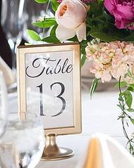 Table Number Rental Wedding Kansas