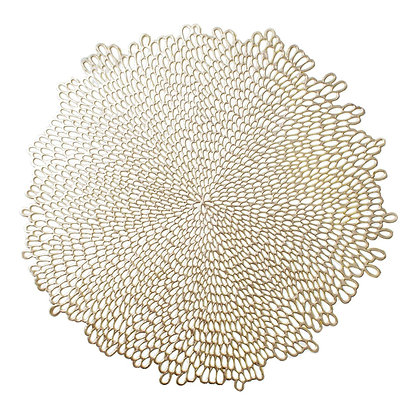 Gold Bloom Placemat/Charger