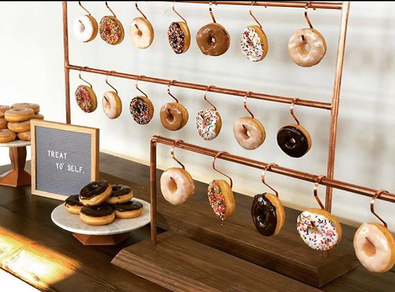 Copper donut / pretzel holder