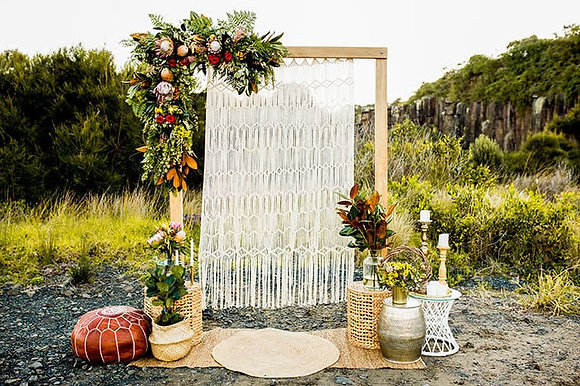 Macrame Backdrop with Arbor