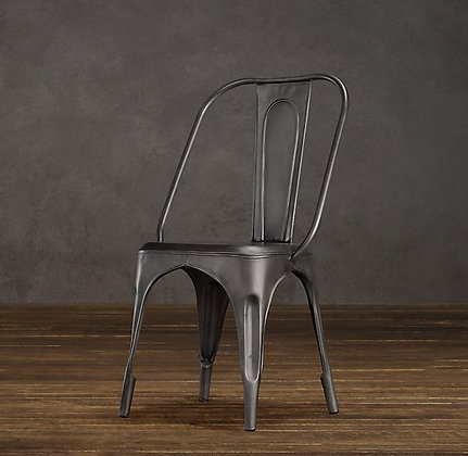 Black Metal Cafe Chair