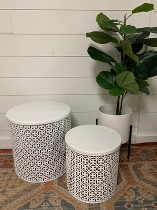 White Side Tables - Set of 2