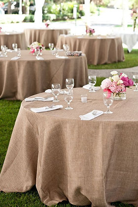 "120"" Round Burlap Table Linen"