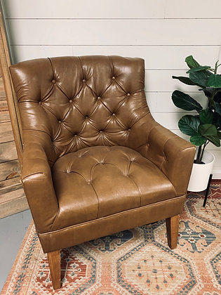 Harrison Brown Leather Club Chair