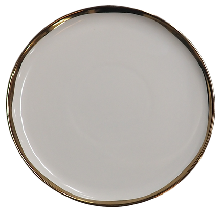 Painted Gold Rim Salad Plate