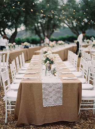 Rectangle Burlap Table Linen
