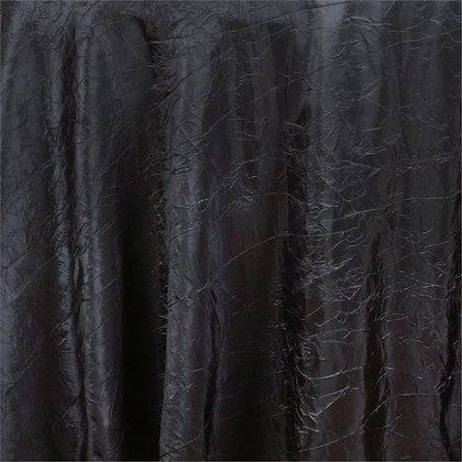 Black Crinkle Linens