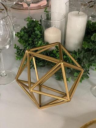 Gold Geometric Sphere