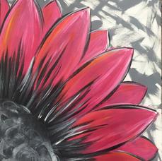 Pink Grunge Flower