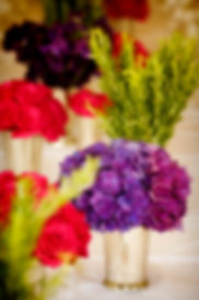 hydrangea's, sweet peas, rosemary & mint