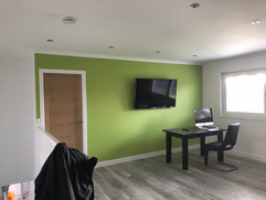 Feature wall pop of colour