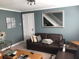 a contemporary living room upgrade