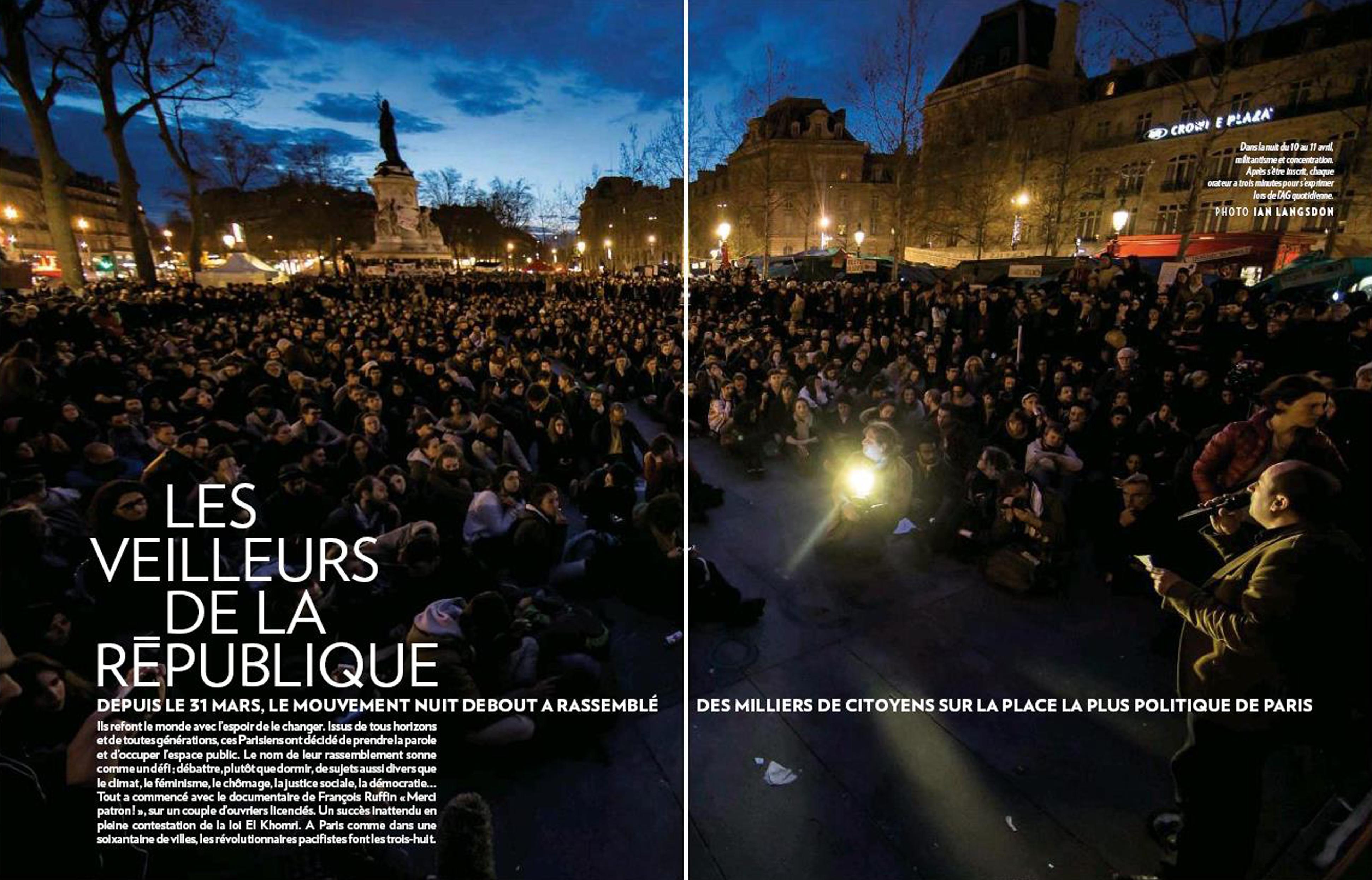 NUIT DEBOUT Paris Match FRANCE