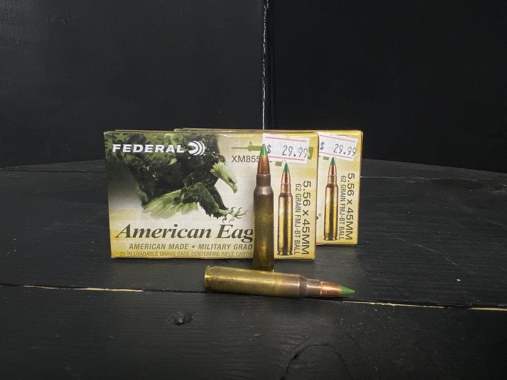 Federal American Eagle .223 Ammo (Green Tip)