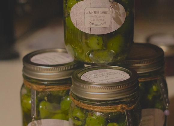 Organic Garlic Relic Olives
