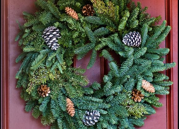 "Natural Wreath 24"""