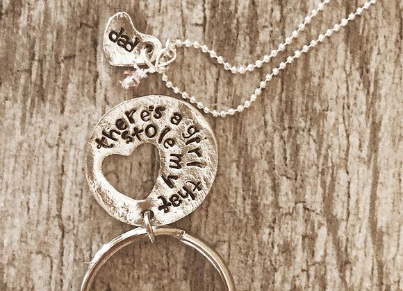 Dad & daughter - keychain & necklace