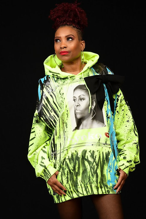 "Syeko  ""Michelle Obama""  Oversized Sweatshirt"