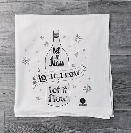 """""""Let it Flow"""" Cotton tea towel"""