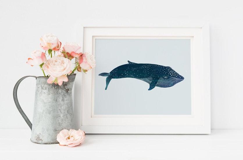 """Creativity"" - Whale, 8x10 Giclee print"