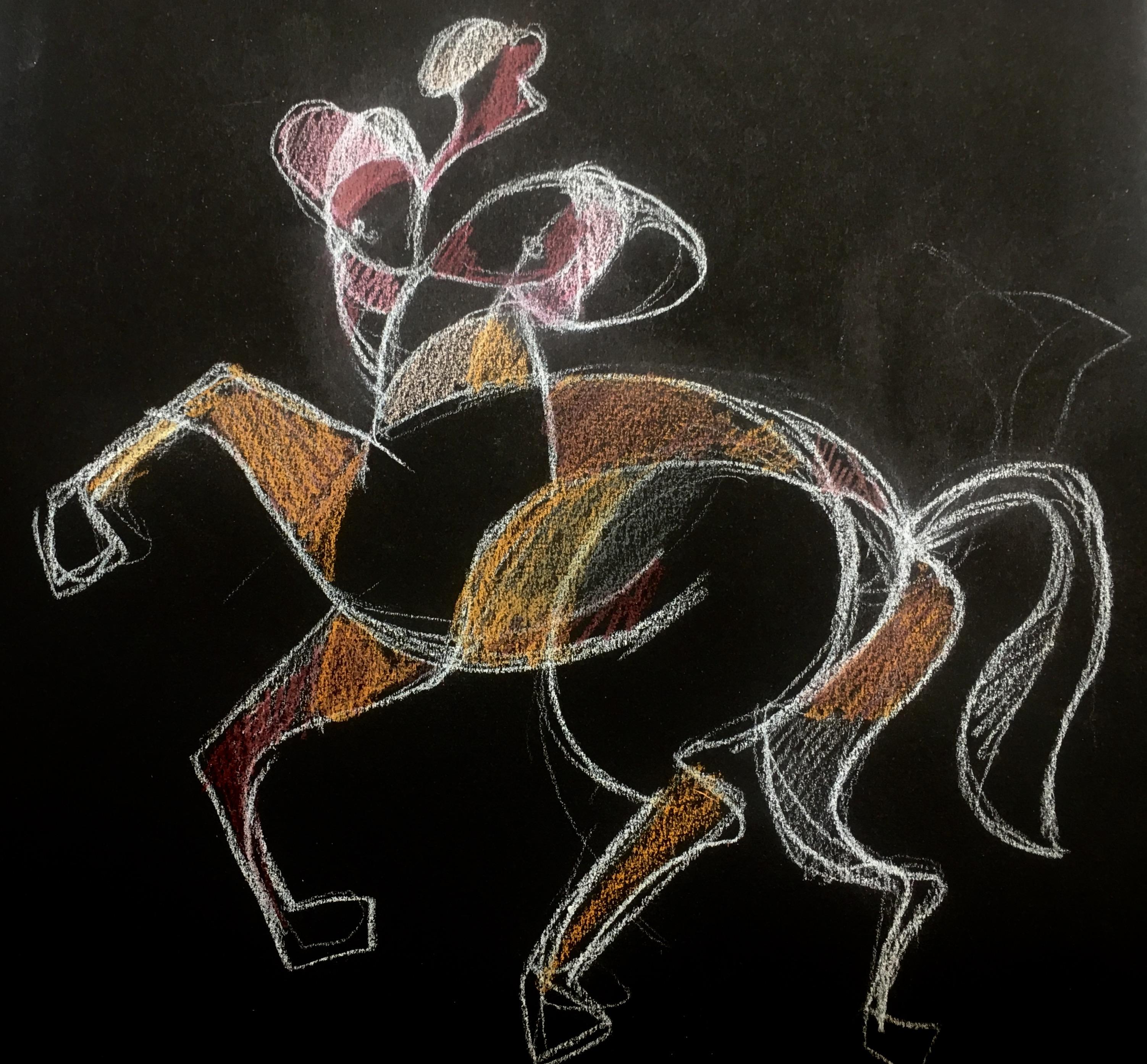 Centaure dessin, 2018