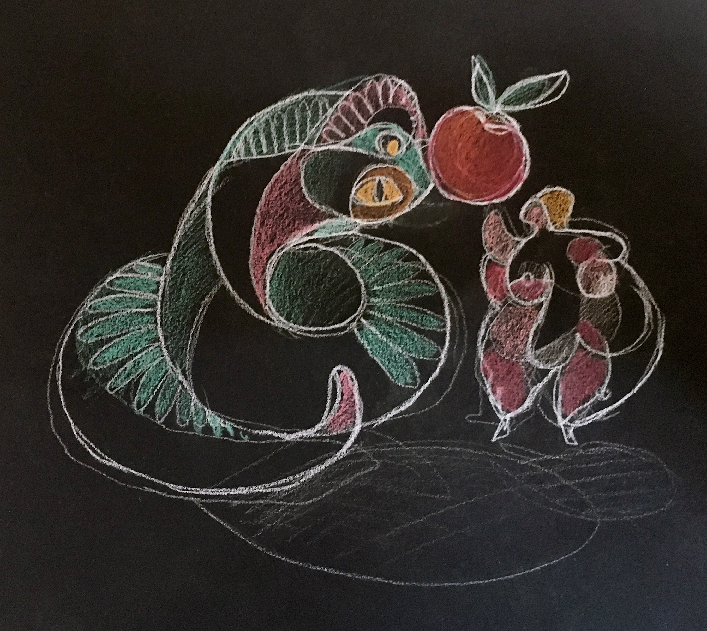 Eve et le serpent dessin 2018