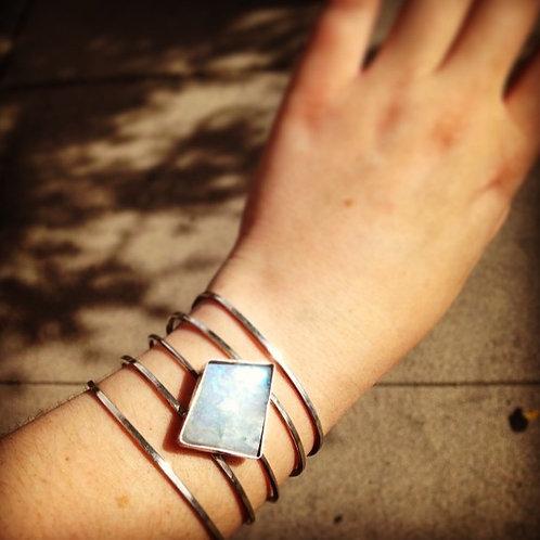 Sterling Silver/Moonstone Cuff Bracelet