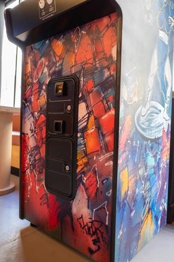 Borne d'arcade, arcade, custom, artcade, art'cade, design interieur,  retro gaming,  retrogaming, graffiti, street art, design d'interieur, jo&joe, accor