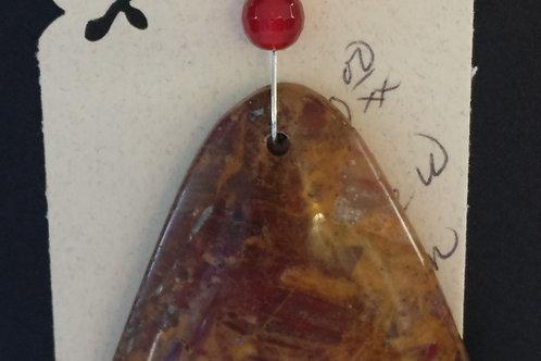 Unique Pietersite and Jade Pendant