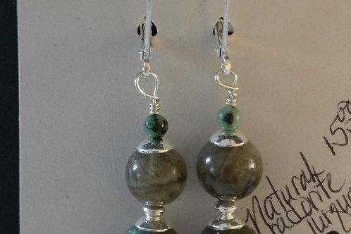 Labradorite and Apetite Earrings