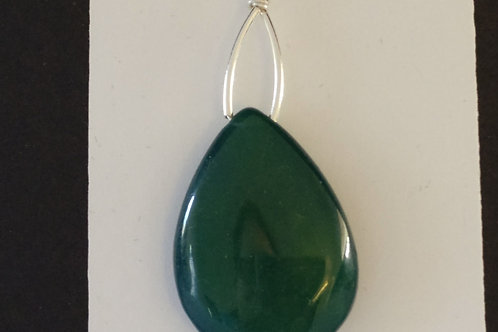Forest Green Onyx Pendant on Sterling
