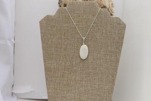 Elegant White Jade Pendant Set