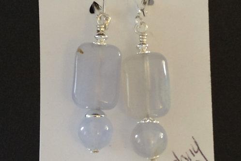 Delicate Blue Chalcedony Earrings