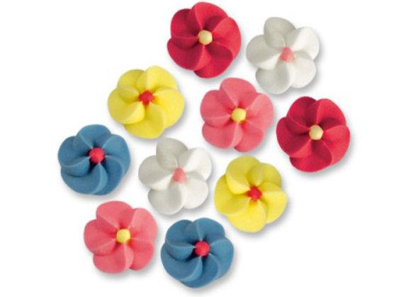 Petites Fleurs colorées - Lot de 10