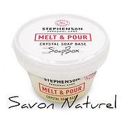 base à savon, base de savon, base à savon glycérinée, melt and pour, faire un savon, faire du savon