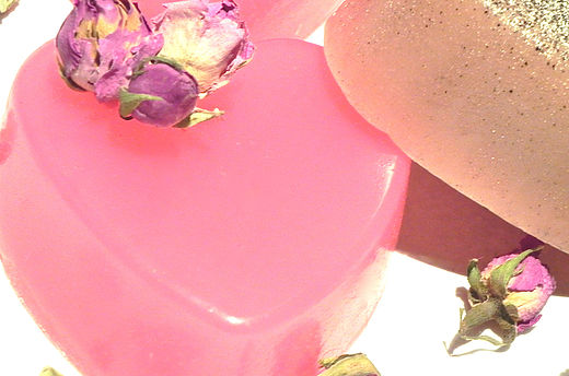 Savon Coeur rose amour