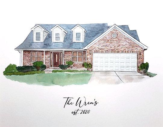 Wren Watercolor House