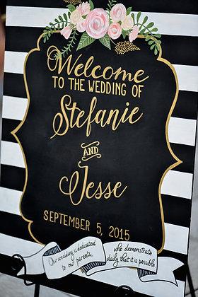 Stefanie & Jesse Welcome Signage
