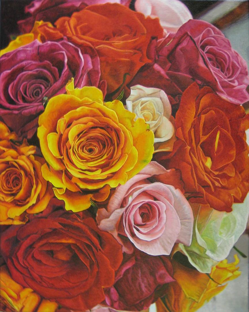 Jaclyn & David Wedding Bouquet Painting