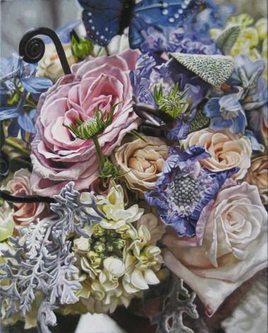 Katie & Patrick Wedding Bouquet Painting