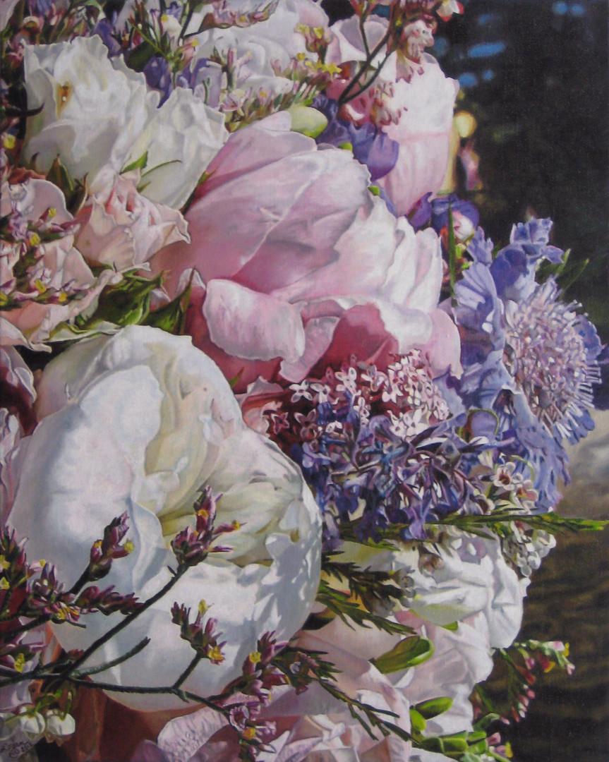 Anna & Jason Wedding Bouquet Painting