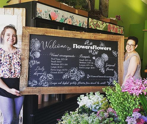 Flowers Flowers Chalkboard