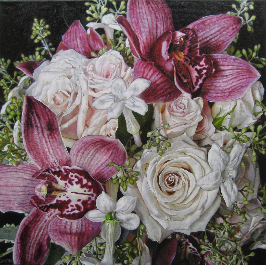 Sarah & Ernst Wedding Bouquet Painting