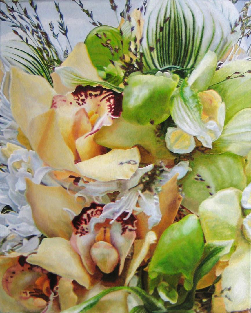 Kara & Mike Wedding Bouquet Painting