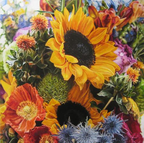 Carrie & Bill Wedding Bouquet Painting