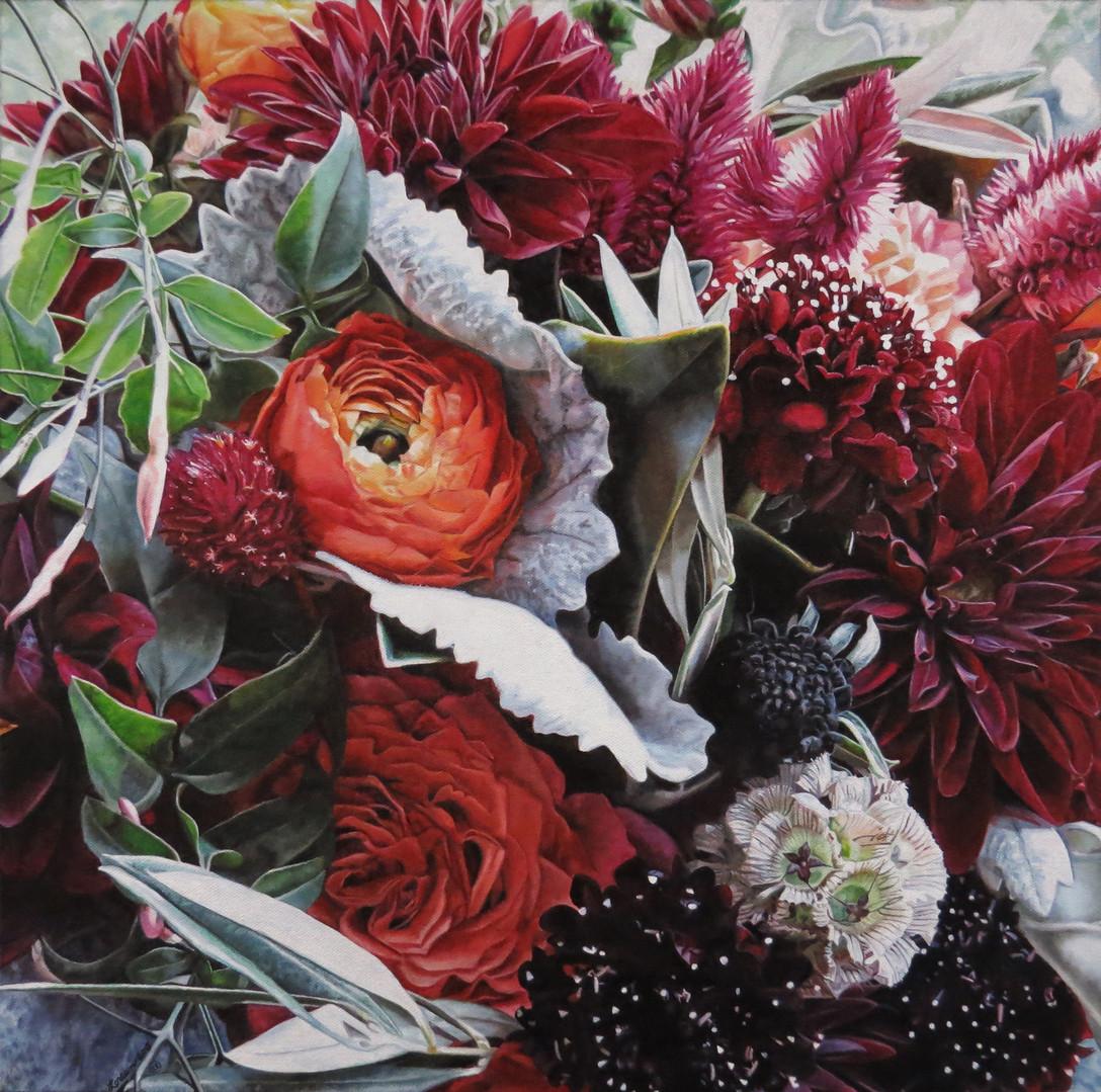 Stephanie & Alex Wedding Bouquet Painting