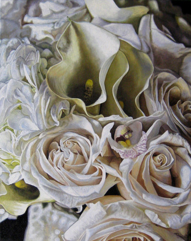 Jami & Brian Wedding Bouquet Painting