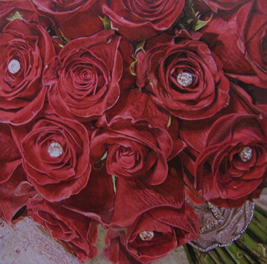 Christina & Jovan Wedding Bouquet Painting