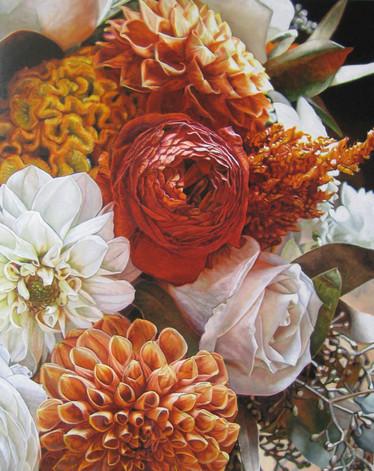 Abra & Peter Wedding Bouquet Painting