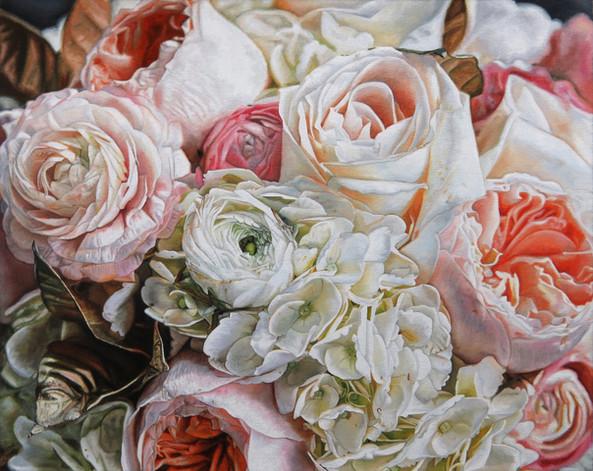 Stefanie & Jesse Wedding Bouquet Painting